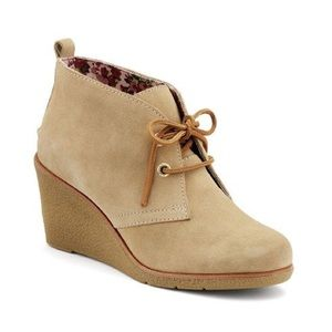 SPERRY Top-Sider | Tan Suede Wedge Bootie
